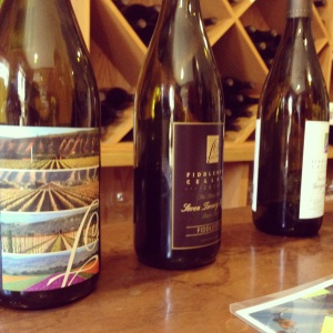 A few of the wines available for tasting at Fiddlehead Cellars