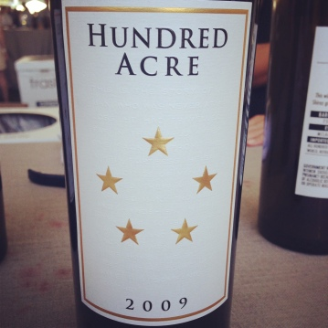 A huge treat, Hundred Acre 2009 Shiraz prerelease test. Although out of my personal buying price point, I couldn't help stopping by both days for a few samples. (or more!)