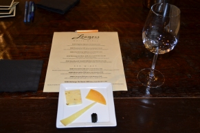 We started off with a private tasting of the estate wines paired with chocolate and cheese.