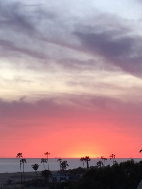 Corona del Mar Sunset, Look Out Point - March 2015