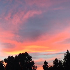 Sunset from the front porch - Newport Beach