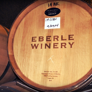 For all visitors to Eberle, the basic tasting is free and includes a tour of their underground wine cave. We were able to taste some of the premium wines at no cost.