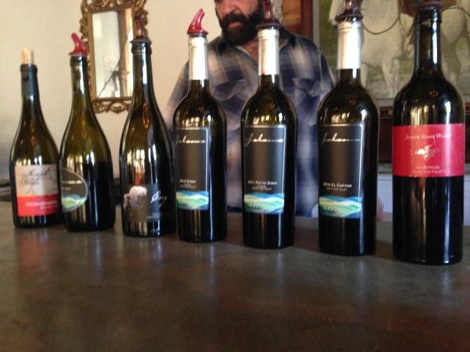 Assortment of pinot noir and syrah wines from Santa Rita Hills and Santa Ynez Valley