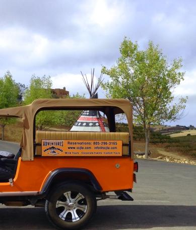 CCJTA Jeep and Wild Coyote TeePee