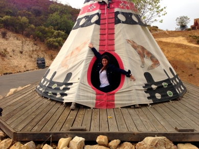 Me in the TeePee