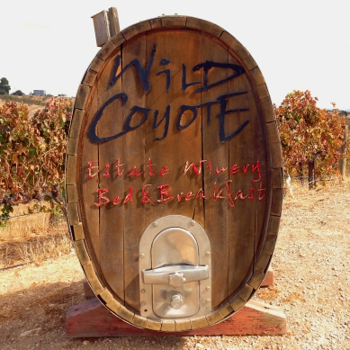 Wild Coyote Barrel Sign