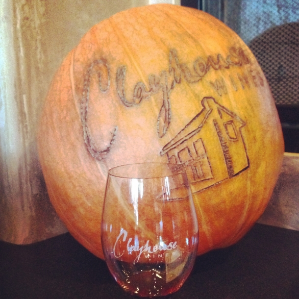 Clayhouse wine was forgettable but the tasting room staff was super nice and had this AWESOME pumpkin! http://www.clayhousewines.com/
