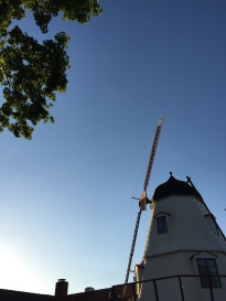 Windmill at sunset in Solvang