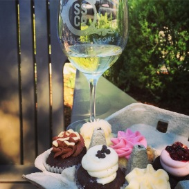 I won't lie, the patio and cupcakes were awesome... so was the house. The wine, left much to be desired.
