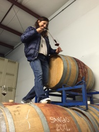 Angela gave us an amazing tasting, climbing up the barrels for the Sangiovese.