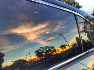 Sunset off the Acura Window