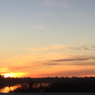 Sunset over Back Bay, Newport Beach