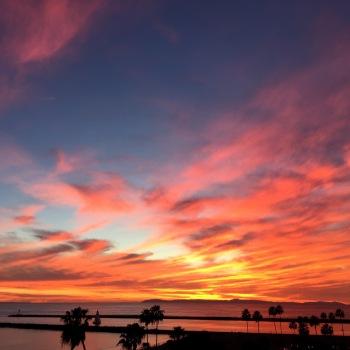 Sunday night sunset in Corona Del Mar via iPhone 6