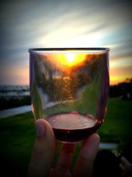 A little sunset through the glass