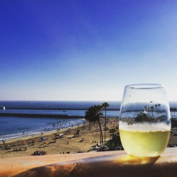 Nothing like a glass of wine before the sunset crew arrives