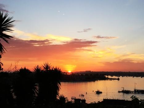 Sunset over the Balboa Island