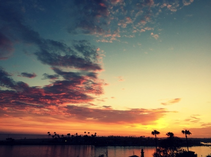 No words, Newport Beach sunset