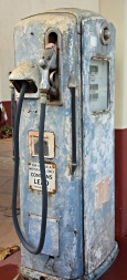 Close up of one of gas pumps